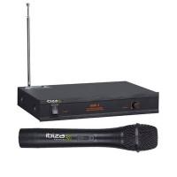Microfon wireless Ibiza VHF1B, frecventa 203.5MHZ, putere 10 mW