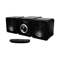 Microsistem audio Ecg, 2 x 5W, USB/MP3, CD, FM, 16 Gb, telecomanda inclusa