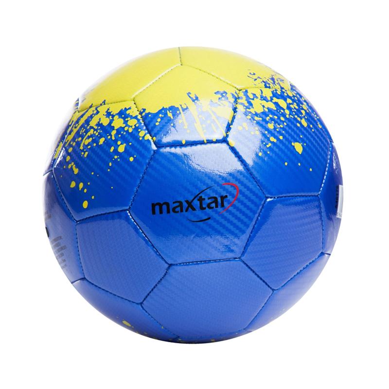 Minge de fotbal Maxtar, 400 - 420 g, PVC, Albastru/Verde 2021 shopu.ro