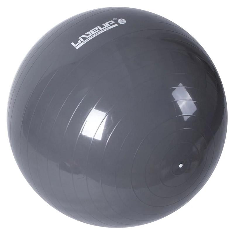 Minge fitness Liveup, 75 cm, Gri