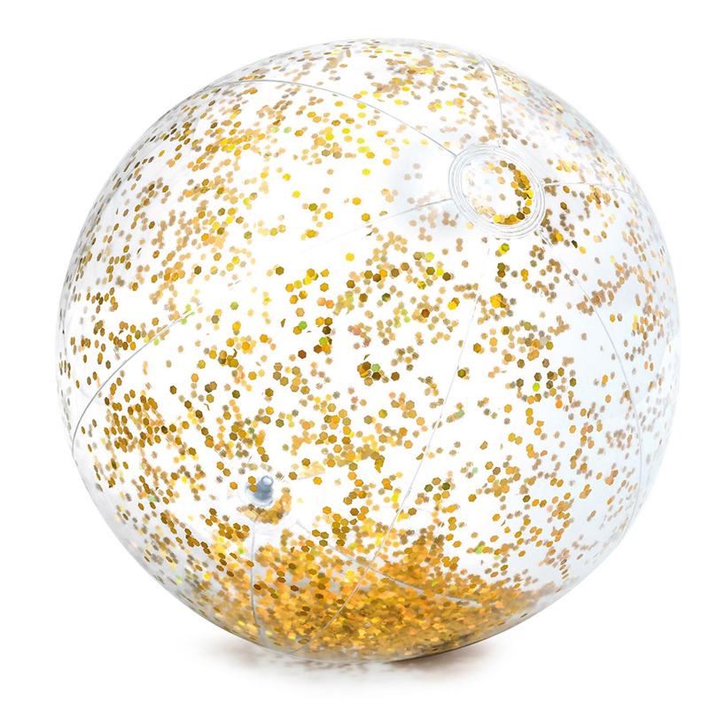 Minge pentru plaja Glitter Ball Intex, 71 cm, glitter auriu 2021 shopu.ro