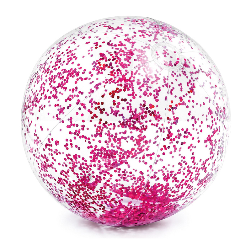 Minge pentru plaja Glitter Ball Intex, 71 cm, glitter roz 2021 shopu.ro