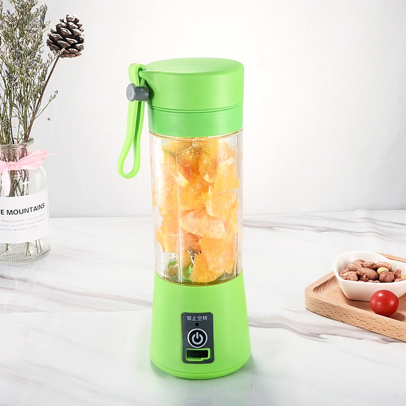 Mini Blender Juice Cup, 320 ml, USB, 2000 mAh, Verde