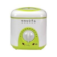 Mini friteuza electrica Sapir, 950 W, 1 l, Alb/Verde