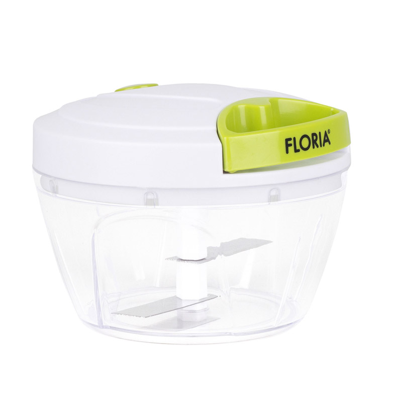 Mini chopper manual plastic Floria, lame inox 2021 shopu.ro