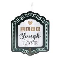 Mini cuier pentru perete Live Laught Love, 17 x 20 cm