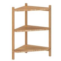 Mini etajera colt pentru baie, 34 x 60 cm, bambus