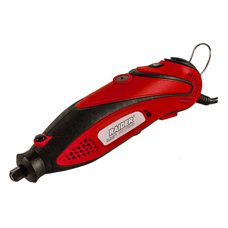 Mini freza Raider RD-MG06D, 135 W, 33000 rpm, 0.8 - 3.2 mm, arbore flexibil, 210 accesorii shopu.ro