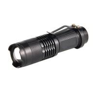 Mini lanterna reincarcabila cu zoom Mini Cree, 3 W, acumulator 1200 mAh