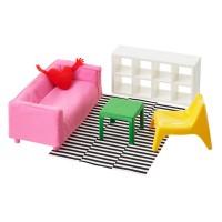 Mini mobilier pentru papusi, 3 ani+, Multicolor