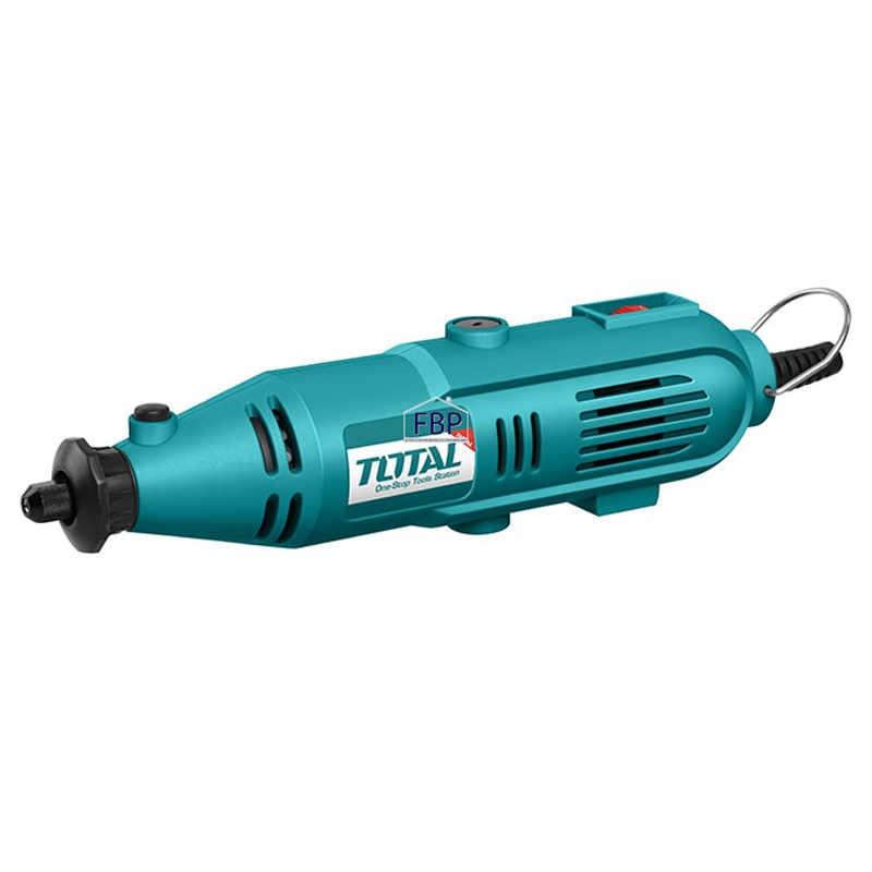 Mini polizor Total, 130 W, 32000 RPM, 3.2 mm, 100 accesorii incluse