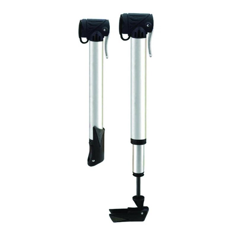 Mini pompa telescopica pentru biciclete, 6 bari, cilindru alumininu, Argintiu 2021 shopu.ro