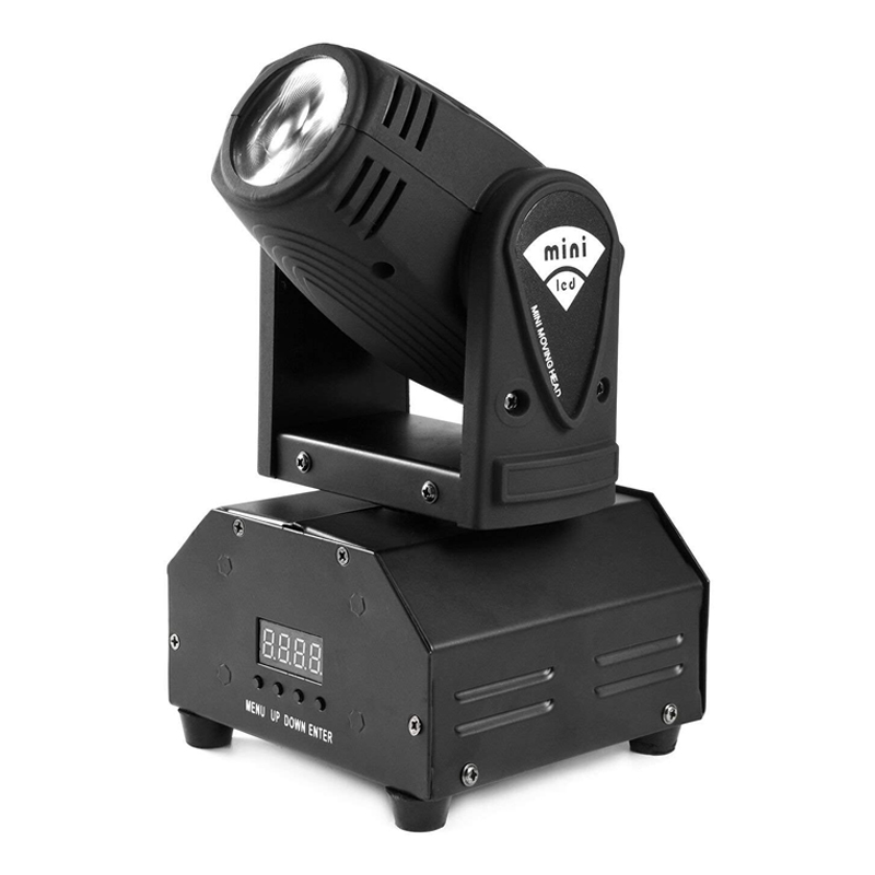 Mini proiector lumini disco Ufo, LED, rotativ, afisaj digital 2021 shopu.ro