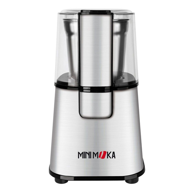 Rasnita de cafea Minimoka, 220 W, 60 g, buton Puls, Inox 2021 shopu.ro