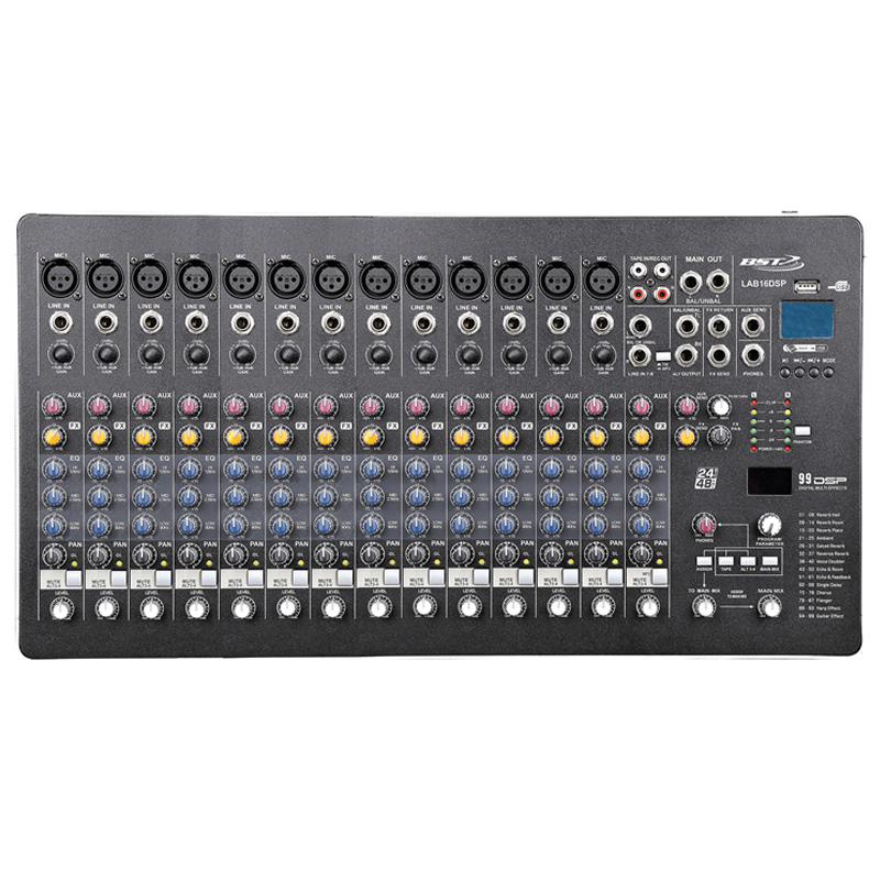 Mixer DJ BST Phantom, 16 canale, 48 V, USB 2021 shopu.ro