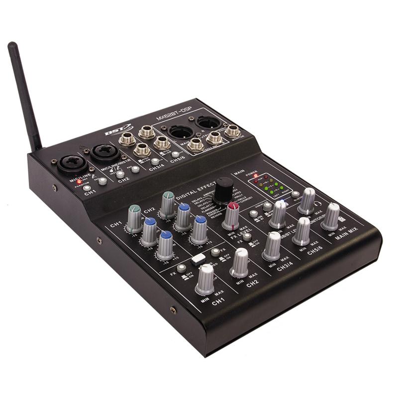Mixer DJ BST, 6 canale, placa de sunet SUB, Bluetooth, DSP