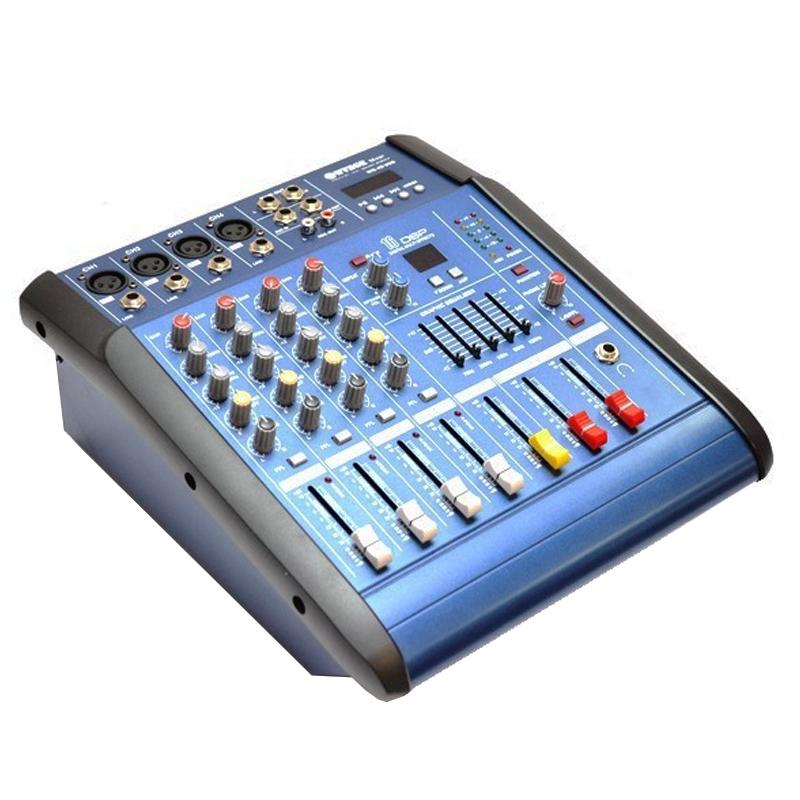 Mixer amplificat WVNGR WG-4DUSB, 200 W, 4 canale