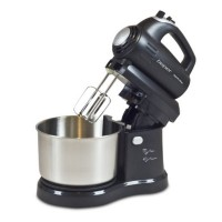 Mixer cu bol rotativ Beper, 300 W, 2.8 l, 5 viteze, functie Turbo, Negru