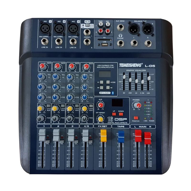 Mixer profesional fara amplificare Temeisheng, 50 W, USB, egalizator 2021 shopu.ro