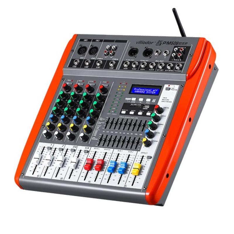 Mixer profesional amplificat Vlliodor, egalizator 9 benzi, procesor digital