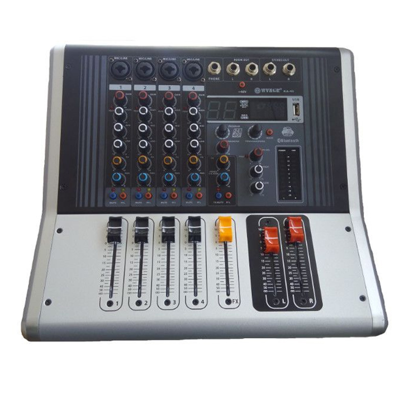 Mixer profesional amplificat WNGR, 2 x 100 W, 4 Ohm, Bluetooth, USB, Phantom & PFL 2021 shopu.ro