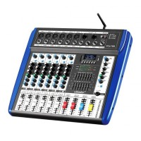 Mixer profesional neamplificat Vlliodo, USB, 6 canale, bluetooth, efecte