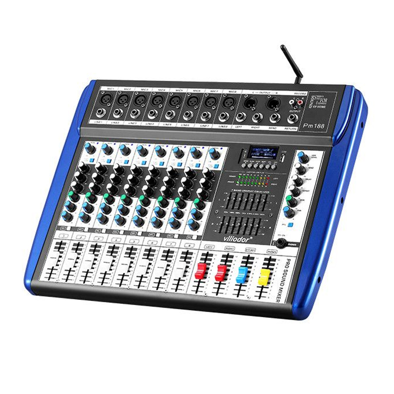 Mixer profesional neamplificat Vlliodor, USB, 8 canale, efecte 2021 shopu.ro