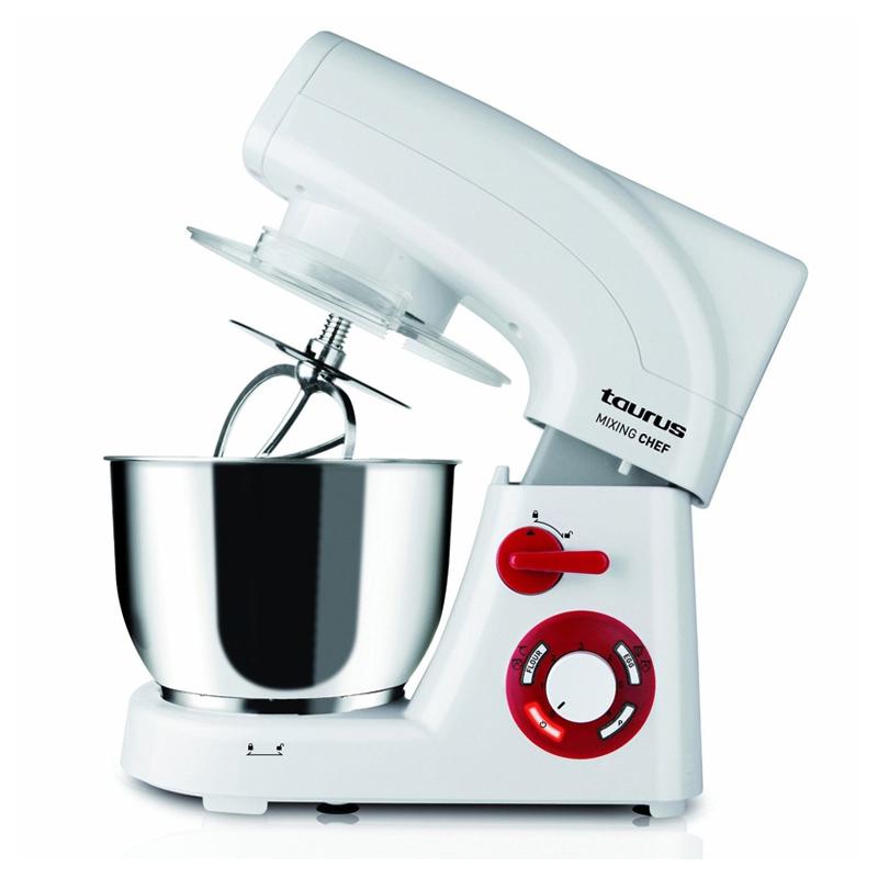 Mixer cu bol Mixing Chef Taurus, 1200 W, 5.5 l, 6 viteze, program framantare, functie Turbo 2021 shopu.ro