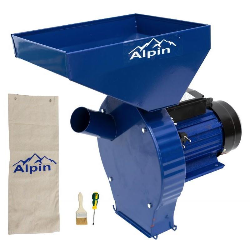 Moara electrica Alpin KBE-180K, 3.8 kW, 250 kg/h, 3000 RPM, 4 site, sac colector