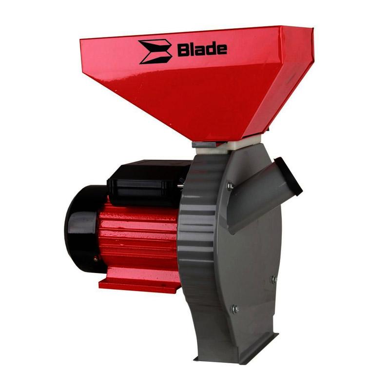 Moara electrica pentru cereale si stiuleti de porumb Blade, 2700 W, 200 kg/h, cuva mare, Rosu 2021 shopu.ro