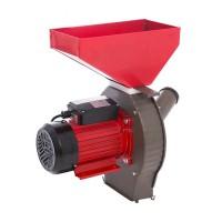 Moara electrica pentru cereale/stiuleti Craft Tec, 3800 W, 3000 rpm, 200 kg/h, Rosu