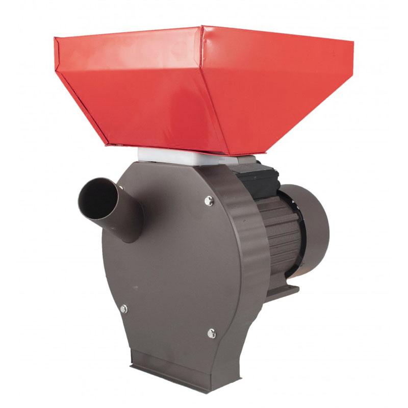 Moara electrica pentru uruiala Campion, 3.8 kW, 3000 rpm, 300 kg/h, cuva mare, motor cupru, 4 site incluse, Rosu/Gri shopu.ro