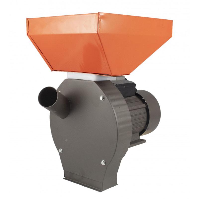 Moara electrica pentru uruiala Campion, 3.8 kW, 3000 rpm, 300 kg/h, cuva mare, motor cupru, 4 site incluse, Portocaliu/Gri 2021 shopu.ro