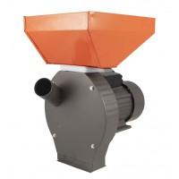 Moara electrica pentru uruiala Campion, 3.8 kW, 3000 rpm, 300 kg/h, cuva mare, motor cupru, 4 site incluse, Portocaliu/Gri