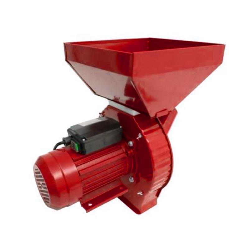 Moara electrica ruseasca pentru cereale/stiuleti Craft Tech, 3000 rpm, 3800 W, 300 kg/h, 4 site incluse, Rosu 2021 shopu.ro