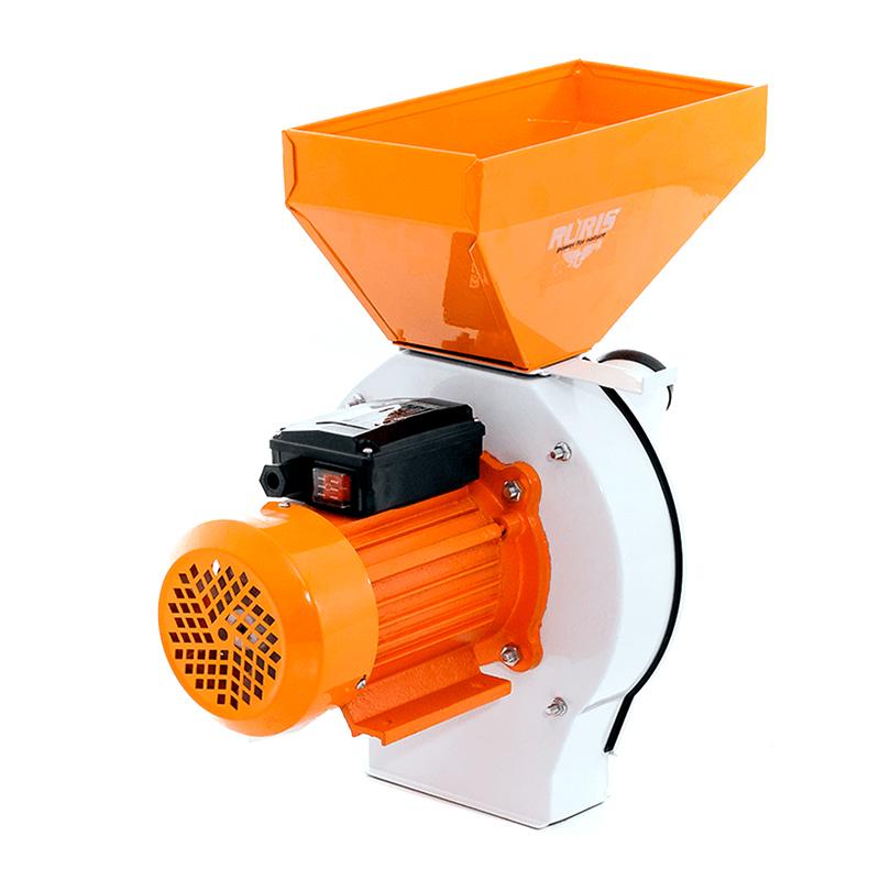 Moara cu ciocanele Ruris Gospodar A1, 1.1 kW, 2850 rpm, 180 kg/h, cuva metalica 2021 shopu.ro
