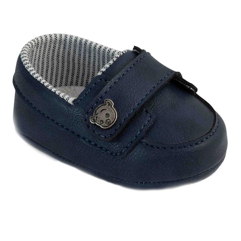 Mocasini Pimpolho, marimea 15, 8.7 cm, inchidere velcro, 0-2 luni, Albastru 2021 shopu.ro