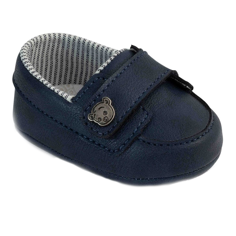 Mocasini Pimpolho, marimea 18, 10.7 cm, inchidere velcro, 6-7 luni, Albastru 2021 shopu.ro