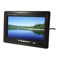 Monitor auto LCD Pillow, ecran TFT LED, 7 inch, Negru