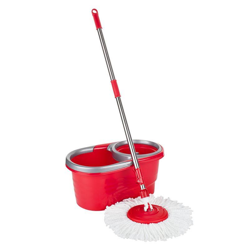 Mop rotativ microfibra Easy Clean 2 Teesa, 5 l, rosu shopu.ro