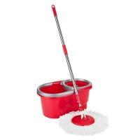 Mop rotativ microfibra Easy Clean 2 Teesa, 5 l, rosu