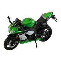 Motocicleta Kawasaki Ninja ZX-10R 2009, scara 1:18, Verde