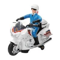 Motocicleta politie cu sunete si lumini, Albastru/Alb