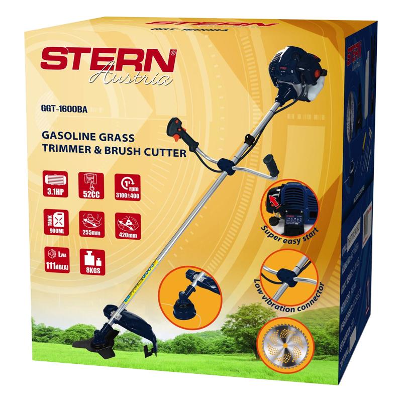 Motocoasa Stern GGT1600BA, 3.1 CP, 52 cm3, 0.9 L, accesorii incluse