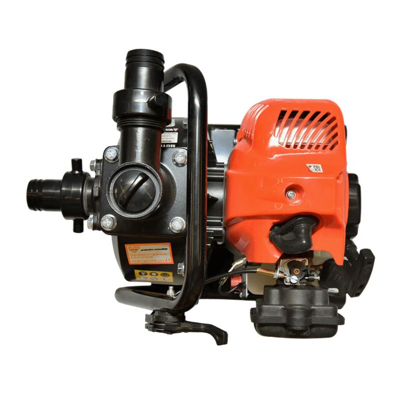 Motopompa Ruris, 1.49 kW, 250 l/min, 15 mc/h, 1.7 CP, benzina, 2 timpi, apa curata shopu.ro