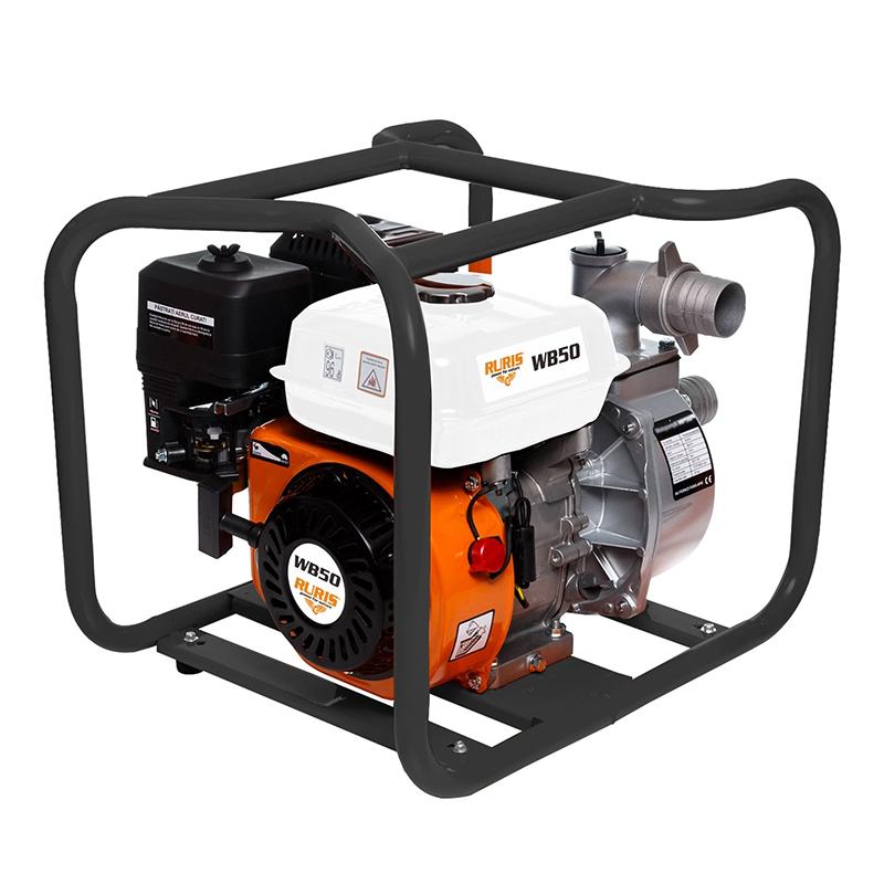 Motopompa Ruris, 5200 W, 7 CP, 25000 l/h, 3600 ml, benzina, maxim 25 m, apa curata 2021 shopu.ro