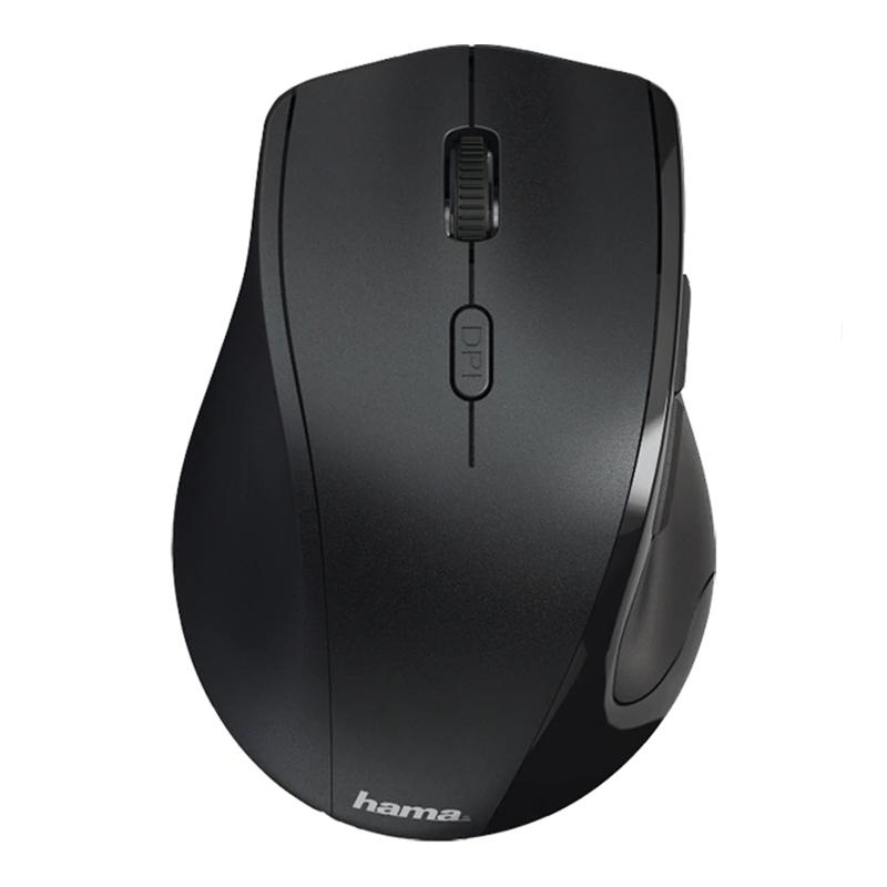 Mouse Wireless Riano Hama, 1600 dpi, USB, 6 butoane, Negru 2021 shopu.ro