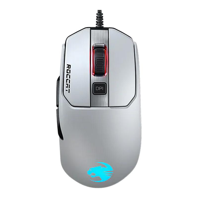 Mouse gaming Kain 122 Aimo Roccat, 16000 dpi, 6 butoane, USB, iluminare RGB, Alb 2021 shopu.ro