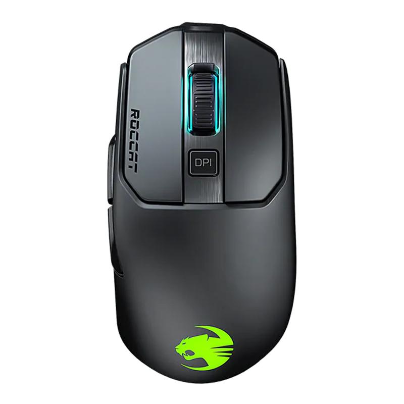 Mouse gaming Wireless Kain 200 Aimo Roccat, 16000 dpi, 1000 mAh, 6 butoane, USB, iluminare RGB, Negru 2021 shopu.ro