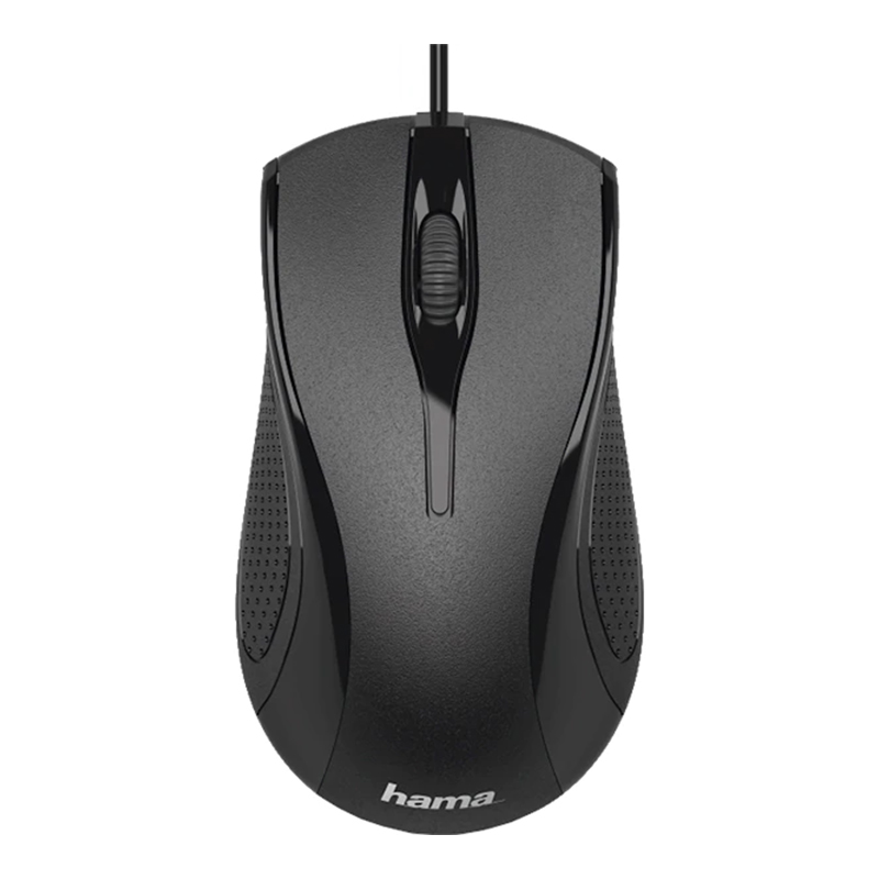 Mouse optic MC-200 Hama, 1200 dpi, 3 butoane, Negru 2021 shopu.ro